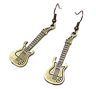 Vintage Guitar Shaped Earrings