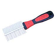 Plastic Comb Handle Steel Dogs Grooming