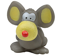 Squeaking Big Ear Mouse Style Rubber Toy for Dogs (Assorted Colors)