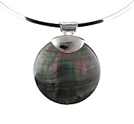 Fashionable Cowry Round Necklace for Women (Black)