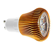 6W GU10 Focos LED MR16 3 COB 600 lm Blanco Cálido Regulable AC 100-240 V