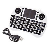 Mini Wireless QWERTY con touchpad mouse keyborad
