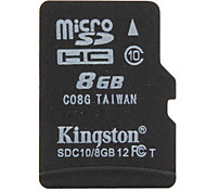 Kingston 8GB Clase 10 MicroSD/MicroSDHC/MicroSDXC/TFMax Read Speed10MB/S (MB/S)Max Write Speed10MB/S (MB/S)
