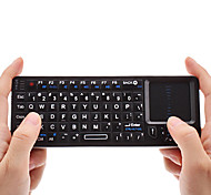 Mini 2.4G Wireless QWERTY keyborad con touchpad mouse + telecomando IR