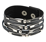 Retro Punk Style Fashionable Stripe Design Bracelet