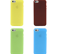 Custodia morbida per iPhone 5 - Colori assortiti