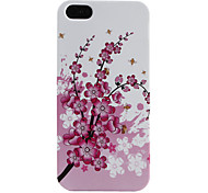Plum Blossom Pattern Soft Case for iPhone 5/5S