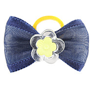Simple Flower Style Tiny Rubber Band Hair Bow for Dogs Cats(Assorted Color)