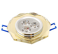 3W 315LM 3000-3500K Warm White Light Crystal LED Ceiling Bulb (220V, 4 Colors Selectable)