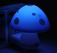 conception mignonne de champignons mini-lampe de nuit LED (220v, couleur aléatoire)