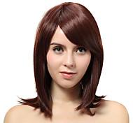 Sin tapa Medio Auburn recta pelucas sintéticas