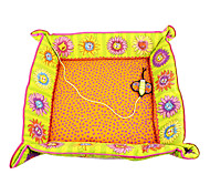 Flowery Cat Pattern Cat Nest with Butterfly Catnip Toy