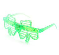 Plastic Funny 2-LED Flashing Glasses for Kids (Random Color)