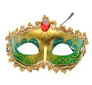 máscara veneciana mitad superior de la corona para la fiesta de disfraces