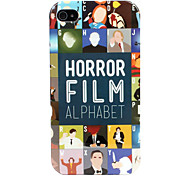 Horror Alfabet Hard Case voor iPhone 4/4S