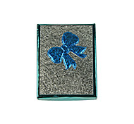 lureme®9.3x7cm arco caixa de armazenamento de papel para a jóia (azul)