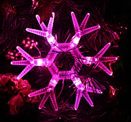 Snowflake Shaped Pink Light LED String Fairy Lamp for Christmas (3xAA)