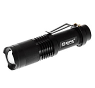 LED Flashlights / Handheld Flashlights LED 5 Mode Lumens Adjustable Focus Cree XM-L T6 18650 Sipik , Black Aluminum alloy