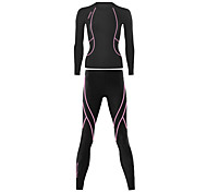 Santic Women's Cycling Long Tights Limits Lady's Superfine Spandex Long Suits with Yellow Line