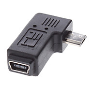 Micro USB Macho para Mini USB fêmea adaptador