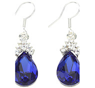 Z&X®  Blue Water-drop Shape Earrings