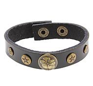 Five-pointed Star Flower Leather Bracelet