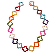 Flower Shape Colorful Turquoise Beads