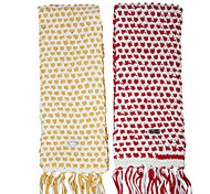 Deniso—Women's Hand Woven Wool Fabric Scarf(Red and Yellow)