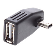 Mini USB macho para USB Adapter Feminino