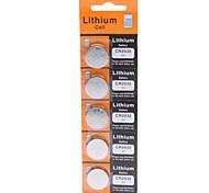 Pilas de Botón de Litio 3V CR2032 (5 Piezas)