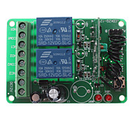 MTDZ007 RF 2-Channel Wireless Remote Control Relay Switch Module (Green, Brown, Black, 12V)