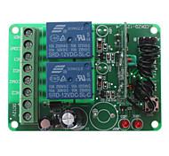 MTDZ007 RF 2-Channel Wireless Remote Control Relay-Switch-Modul (grün, braun, schwarz, 12V)