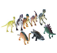 "7"" Vinyl Dinosaurs Pack Collection Education Toys (8-Pack)"