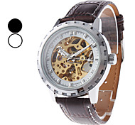 Men's PU Analog Mechanical Wrist Watch (Assorted Colors)