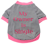 My Owner is Single Pattern T-Shirt for Dogs (Gray,S-XXL)
