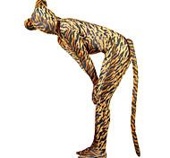 Tiger Modèle Unisexe Spetex Lycra Zentai Catsuit avec la queue