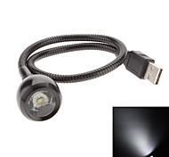 USB Гибкая 1W 90LM Белый Свет светодиодных ламп Интернет (Black)