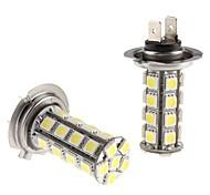 H7 5W 30x5050 SMD White LED Bulb for Car Headlight Fog Light (12V, 2-Pack)