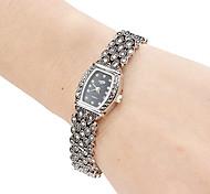 Femmes en alliage Montre analogique bracelet à quartz (noir)