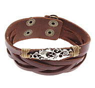 Z&X®  Flowers Cross Rivet Leather Bracelet