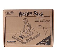 DIY Solar Power Energy Self Assembly Wooden Ocean Park Dolphin Kit