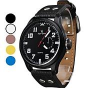 Herren PU Analog Quarz-Armbanduhr (verschiedene Farben)