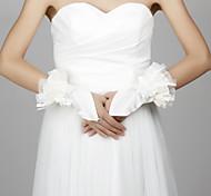 Wrist Length Fingerless Glove Satin Bridal Gloves/Party/ Evening Gloves