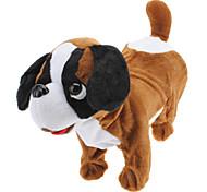Singing and Dancing Toy Lovely Walking Plush Puppy Dog (3xAA, White)
