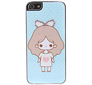 Cartoon Girl Pattern Hard Case for iPhone 5/5S