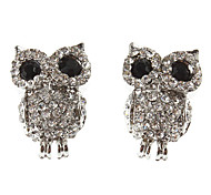 Rhinestone Baby Owl Earrings