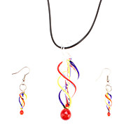 Screw Thread Shaped Glaze Jewelry Set(Assorted Color)