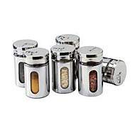 1 PCS Stainless Steel Made Seasoning Tin(Random Color)