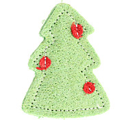 Christmas Tree Style Tooth Cleaning Green Loofah Pet Toys for Dogs