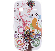 Flower design Custodia morbida per Samsung Galaxy Gio S5660
